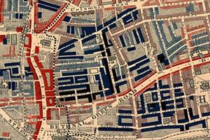 London mapa biedy