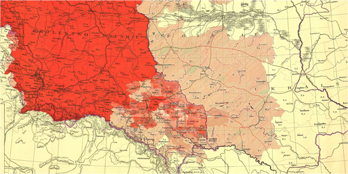 Ludność Polska na Kresach, przed pierwszą wojną.