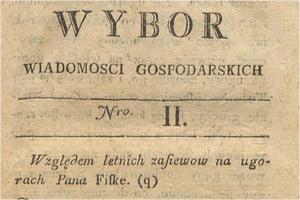 Wiadomości gospodarskie 1786