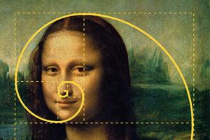 """""""Mona Lisa"""", złoty podział."""