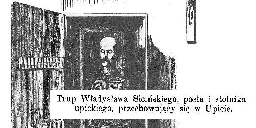 Zwłoki Władysława Sicińskiego.